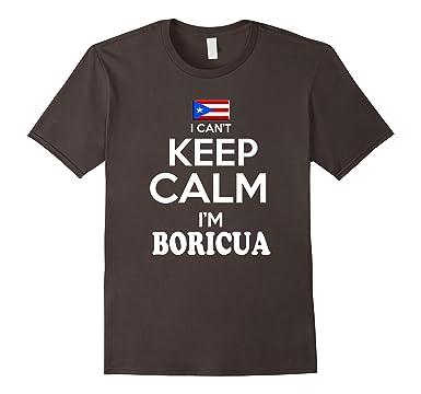 Mens Puerto Rico Keep Calm Boricua tshirt Puerto Rican Camiseta 3XL Asphalt