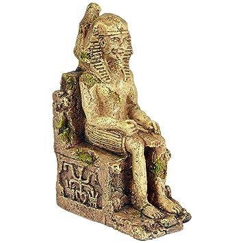 Pet Ting Adorno para Acuario con diseño de faraa egipcia, decoración de Acuario, decoración de vivero: Amazon.es: Productos para mascotas
