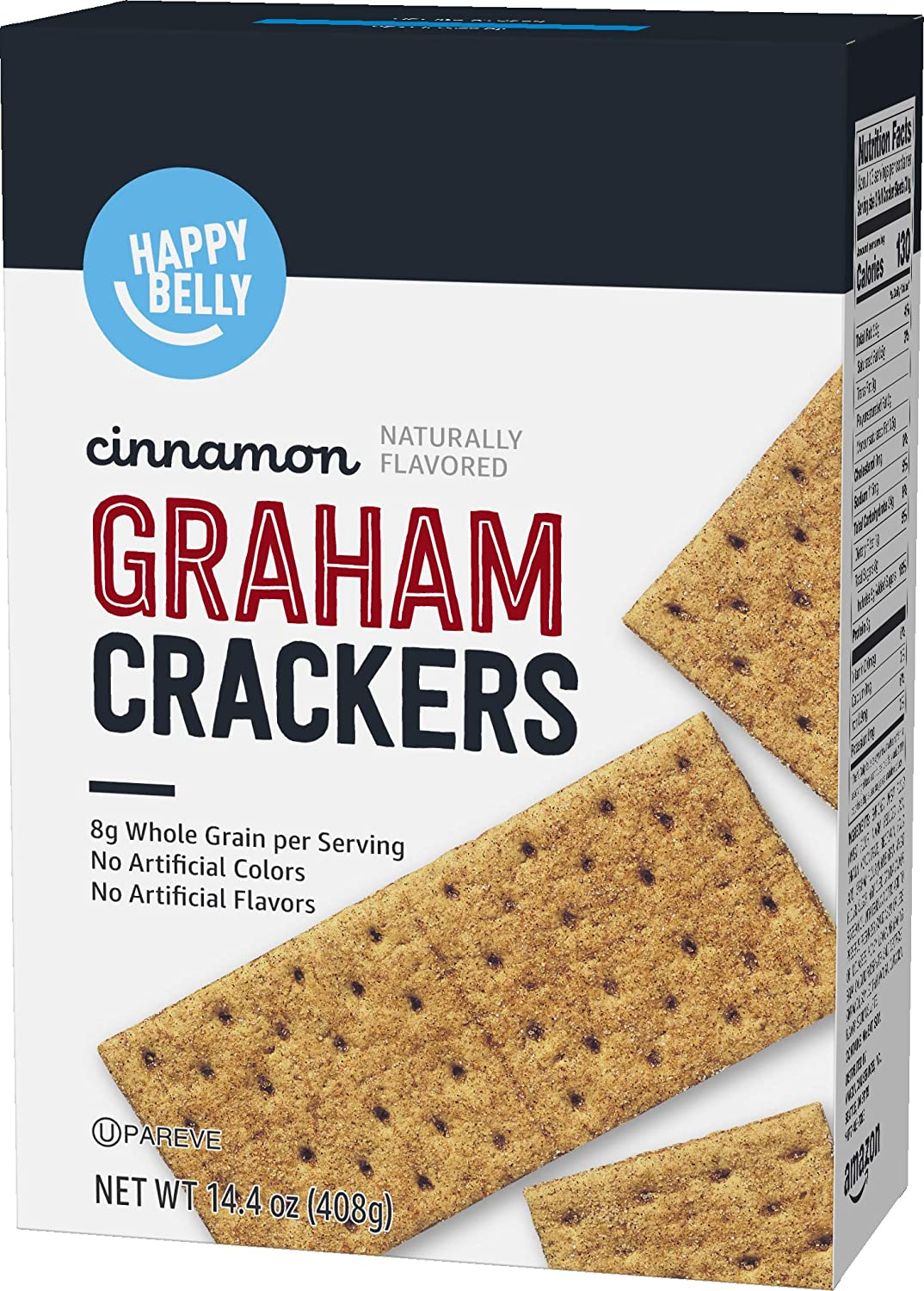 Amazon Brand - Happy Belly Cinnamon Graham Crackers, 14.4 Ounce