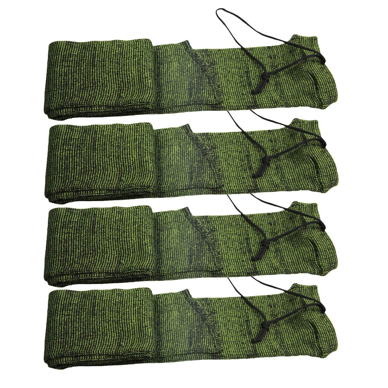 GUGULUZA Silicone Treated Knit Gun Socks 52'' for Rifles 4 - Pack (F-Green) by GUGULUZA