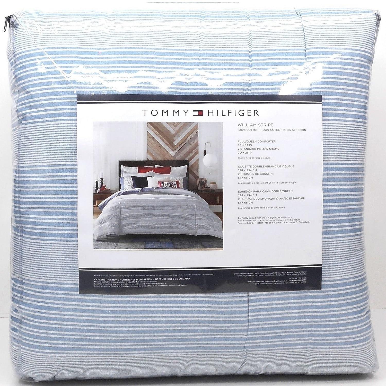 Amazon Com Tommy Hilfiger William Stripe Comforter Set Full Queen
