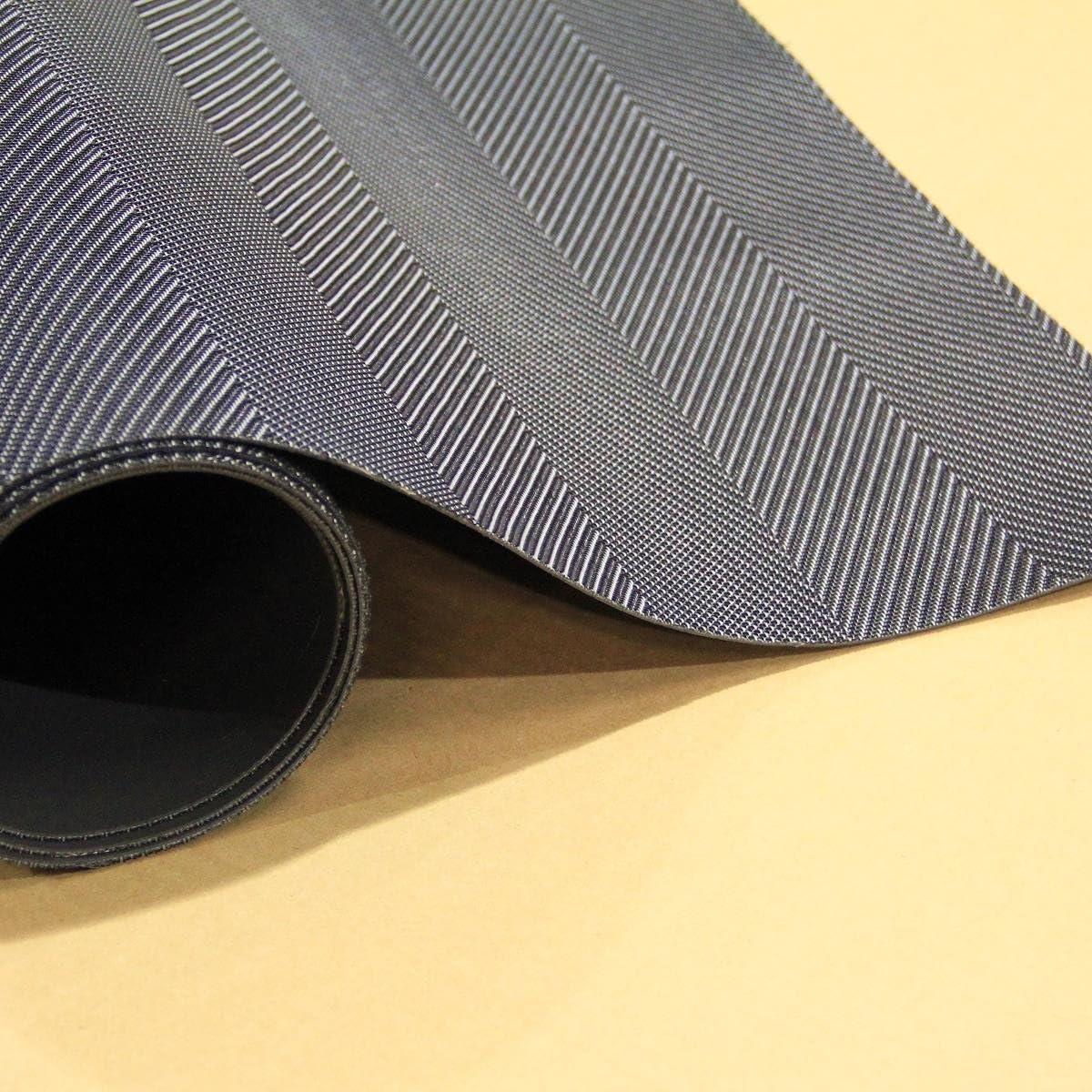 Woven Vinyl Floor Mat Onyx, 6 6 x 8 6