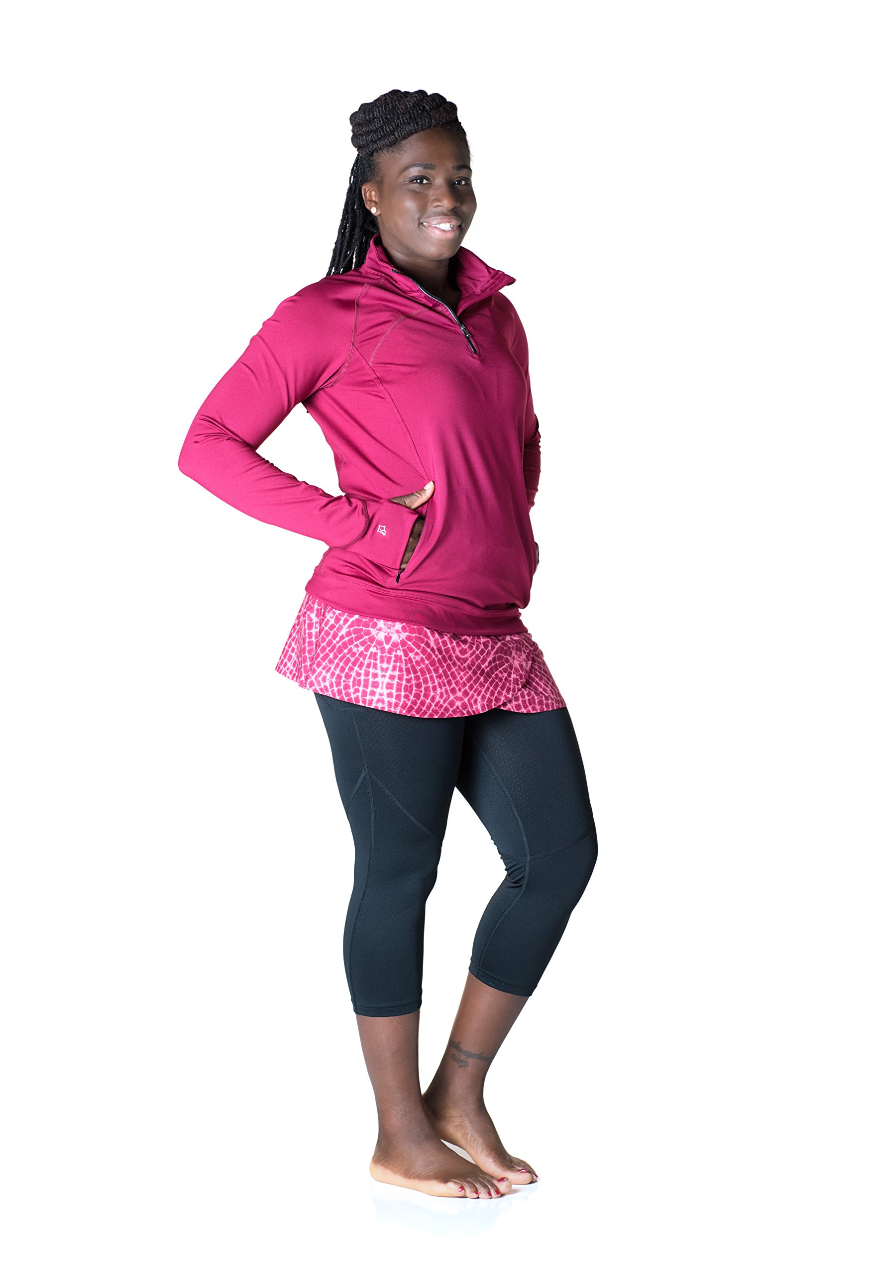 Skirt Sports Women's Tough Chick Top, Ruby, X-Small