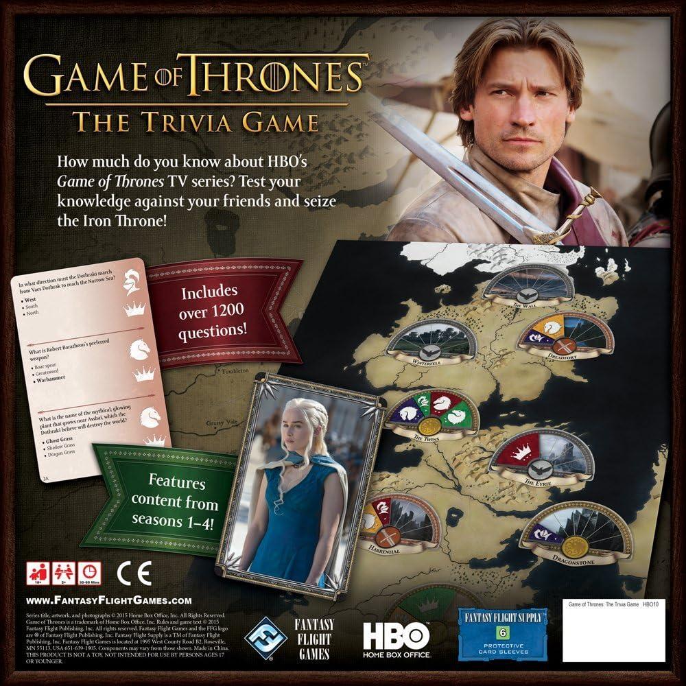 HBO Game of Thrones: The Trivia Game: Amazon.es: Juguetes y juegos