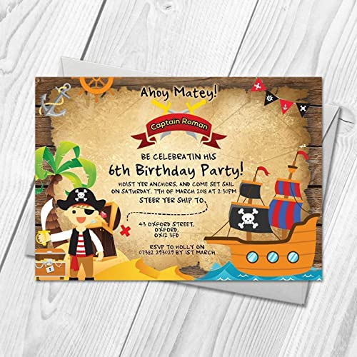 personalised pirate party invitations fancy dress birthday party