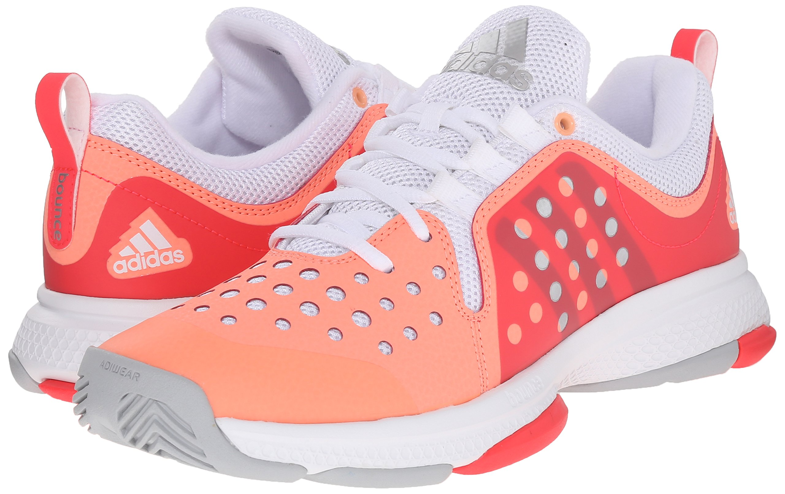 adidas Performance Women's Barricade Classic Bounce W Training Footwear,Sun Glow Yellow/Metallic Silver/Shock Red,9.5 M US by adidas (Image #6)