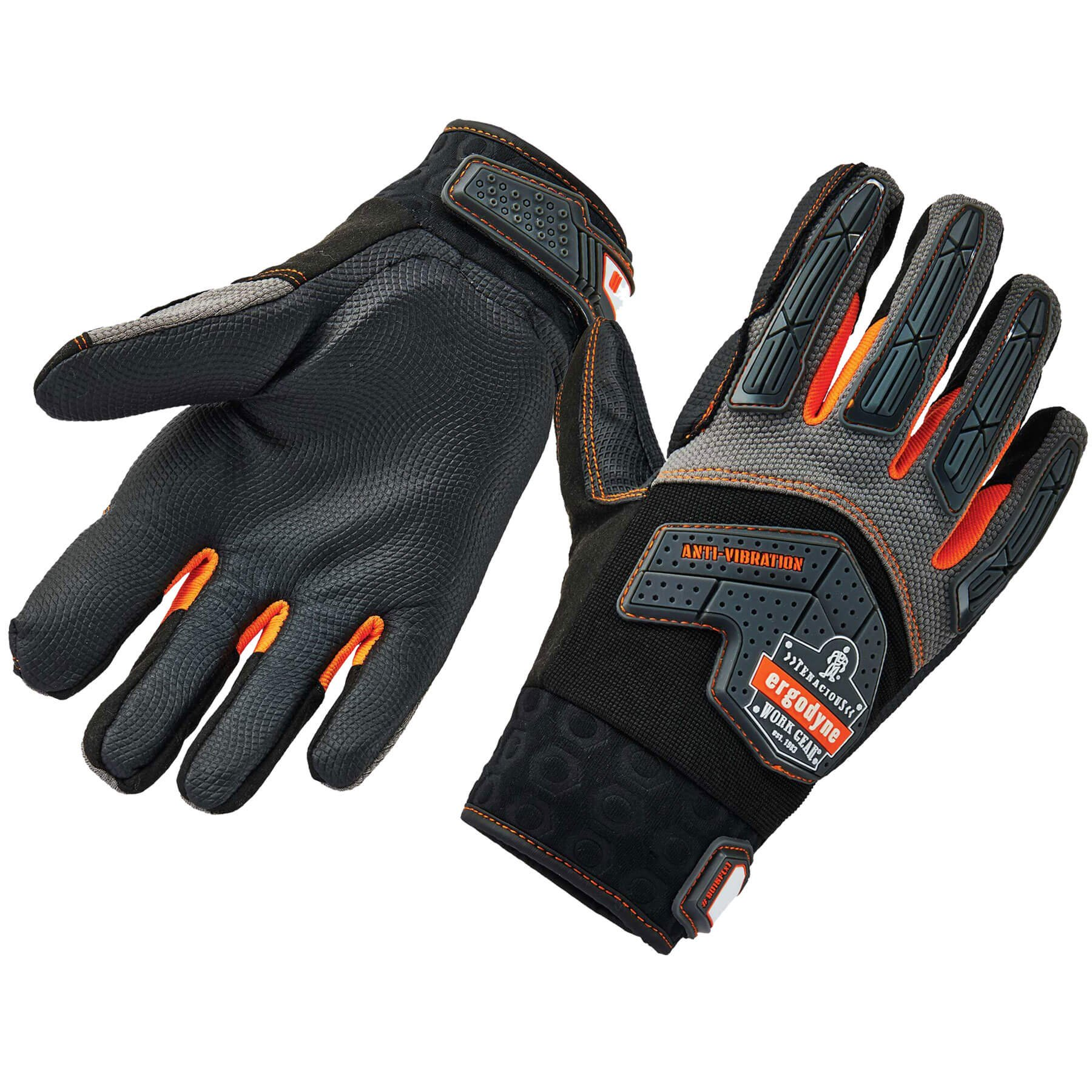 Ergodyne ProFlex 9015F(x) Anti-Vibration Work Gloves, Certified, Large, Black