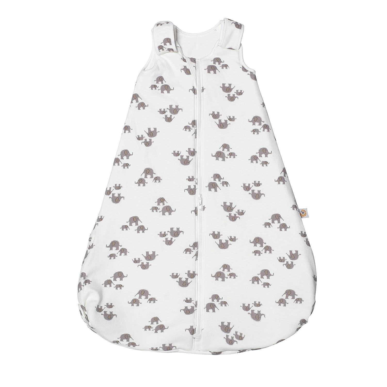 Ergobaby Baby-Schlafsack Sommer mit F/ü/ßen Gurtschlitz 6-18 Monate 0.5 TOG Baumwolle Sommerschlafsack On The Move Elephant