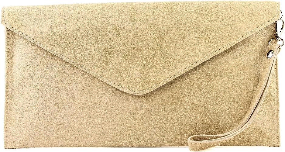 Italian Women/'s Leather Bag Shoulder Bag Cross-Body Suede Shoulder Bag Clutch