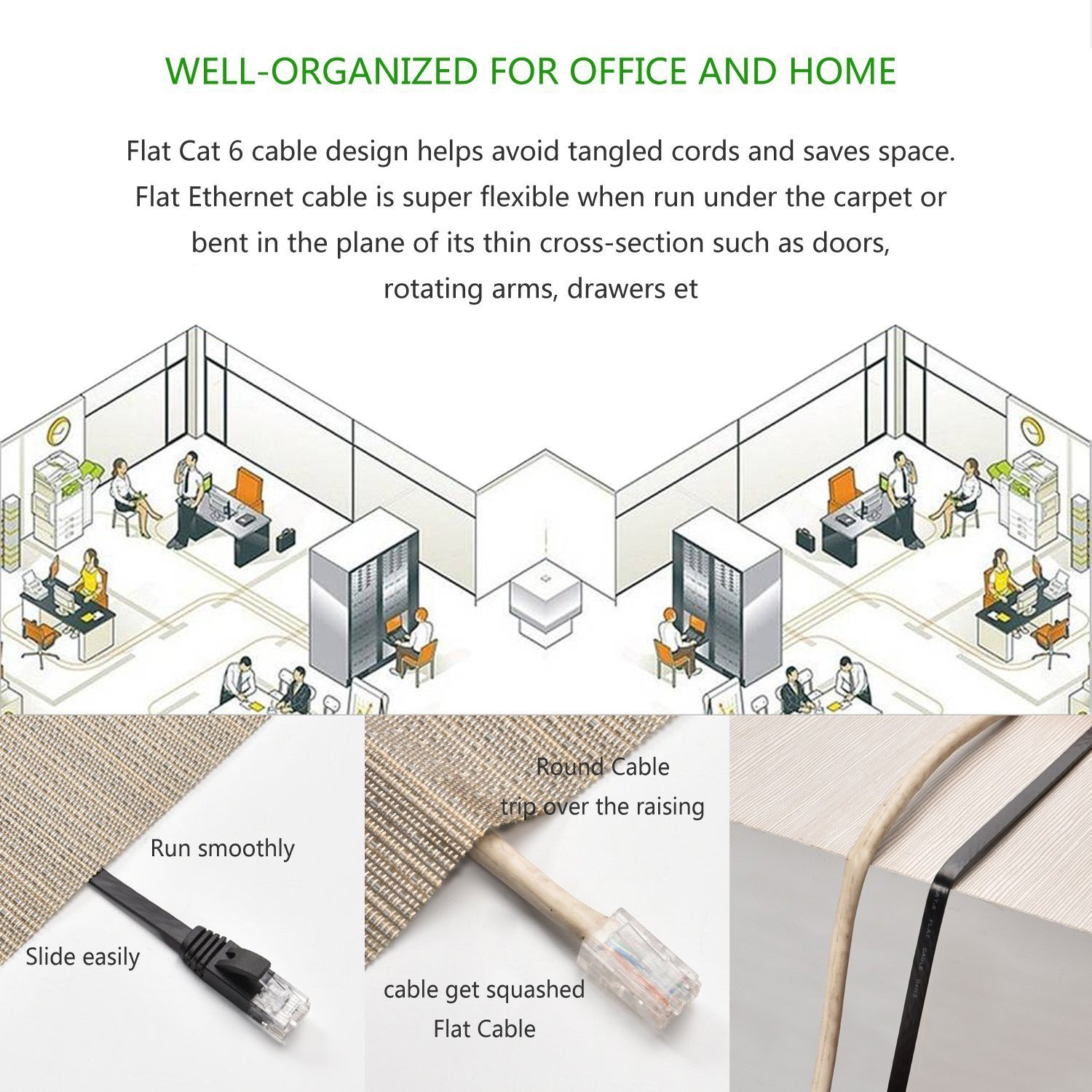 amazon com cat 6 ethernet cable black 150 ft at a cat5e price amazon com cat 6 ethernet cable black 150 ft at a cat5e price but higher bandwidth flat internet network cable cat6 ethernet patch cable short