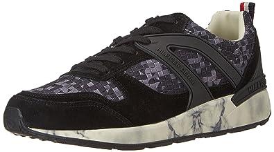 Tommy Hilfiger T2385rack 2c3, Zapatillas para Hombre, Negro (Black 990), 44 EU: Amazon.es: Zapatos y complementos
