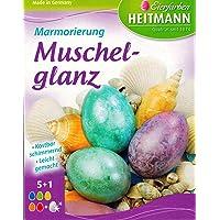Huevos de pascua de colores «Marbling muschelglanz» 6colores/preciosos