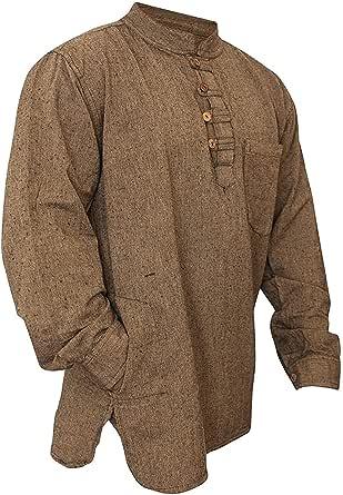 Shopoholic Fashion Mens Plain Washed Out Hippie Shirts