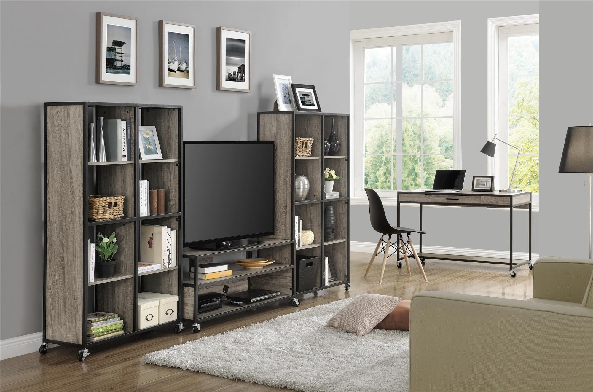Altra Mason Ridge Mobile 46'' TV Stand with Metal Frame, Sonoma Oak/Black by Altra Furniture (Image #8)