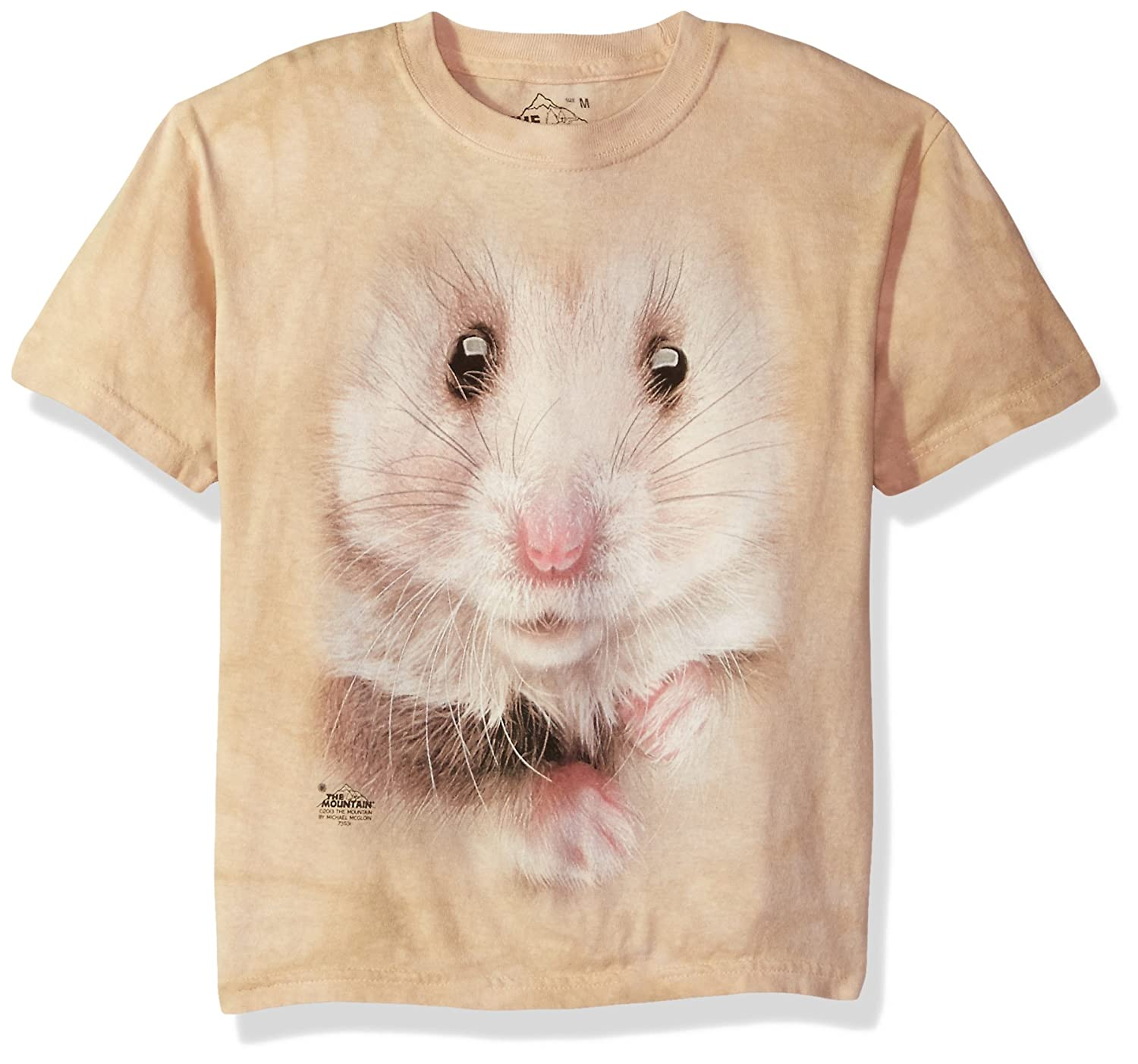 The Mountain Kids Hamster Face T-Shirt, Large, Tan 153621