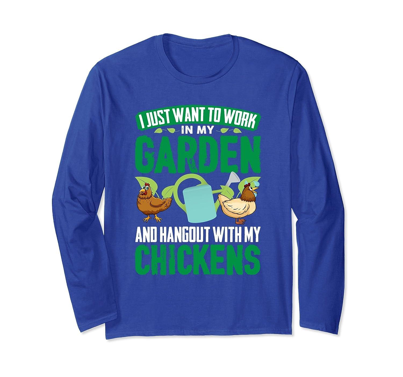 Funny Gardening shirts for women, men long sleeve chicken-AZP