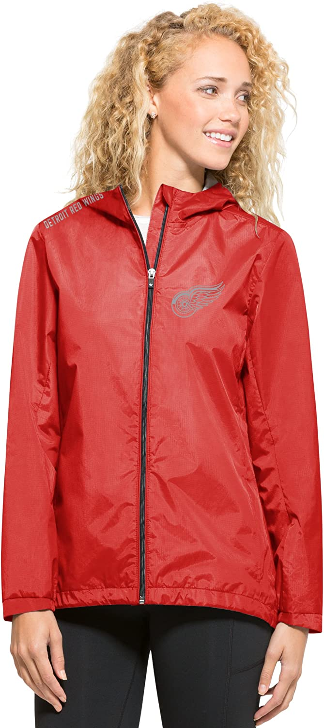 47 NHL Detroit Red Wings Womens React Full Zip Hooded Jacket Medium Rebound Red