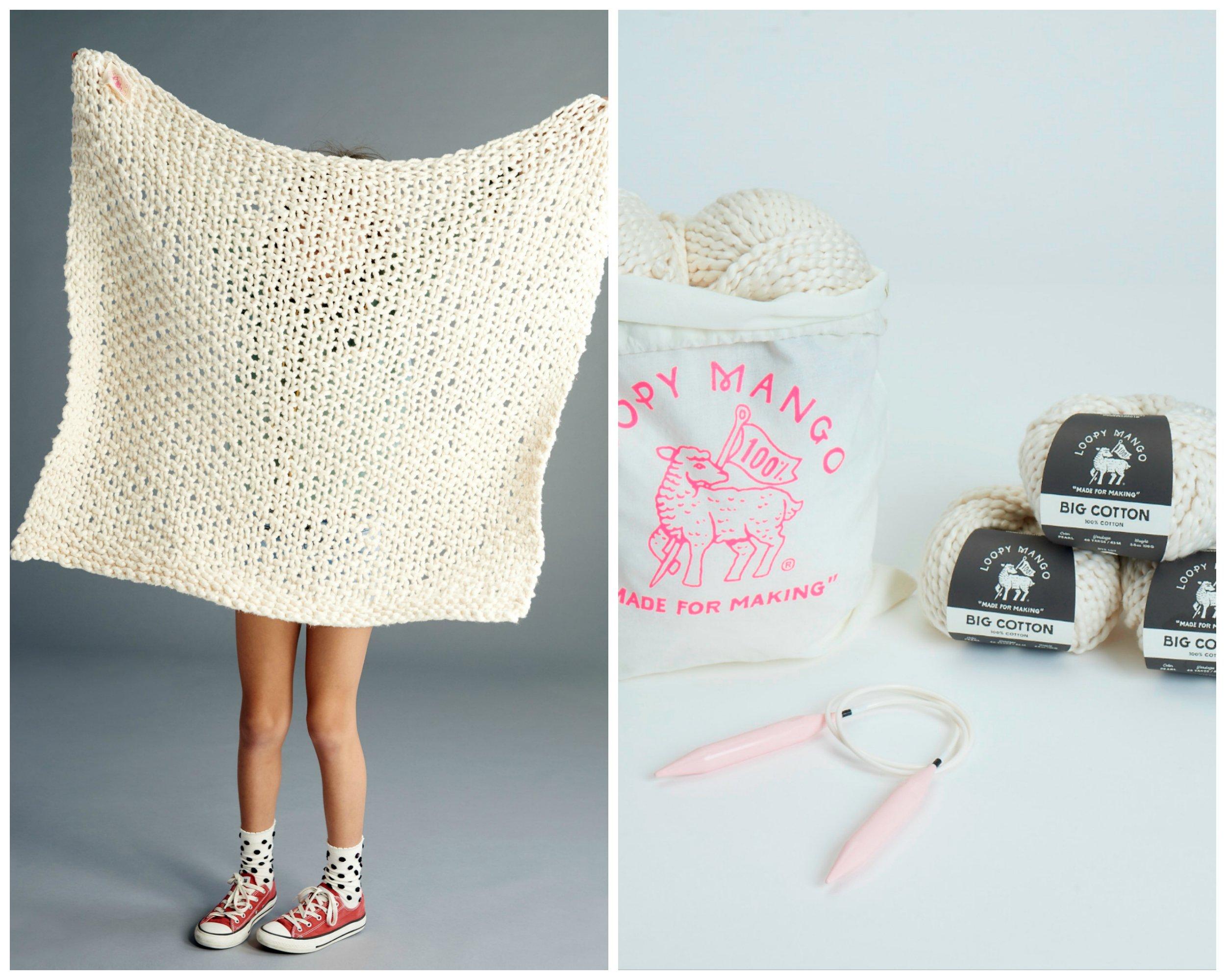 Loopy Mango DIY Kit - Cotton Baby Blanket-Tahitian Pearl by Loopy Mango (Image #1)