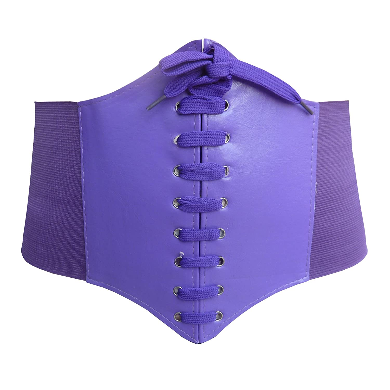 HOEREV/® Elastic Wide Band Elastic Tied Waspie Corset Waist Belt