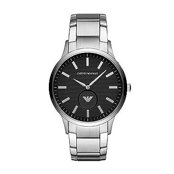 Emporio Armani Reloj Analogico para Hombre de Cuarzo con Correa en Acero Inoxidable AR11118: Amazon.es: Relojes