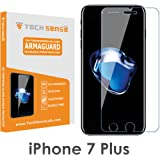 Tech Sense Lab(Australia) Iphone 7 Plus Premium Tempered Glass Screen Protector [9H] - Full HD, Shatterproof, Anti Scratch Screen Guard For Iphone 7 Plus (Clear)
