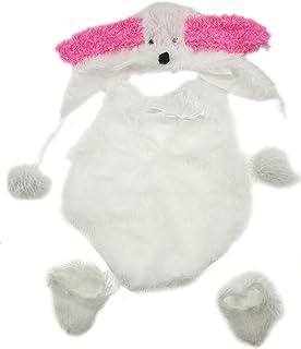 Bébé Fille 3–6mois en peluche Blanc et Rose Lapin Photographie Prop Comprend Chapeau longues oreilles Glamour Girlz