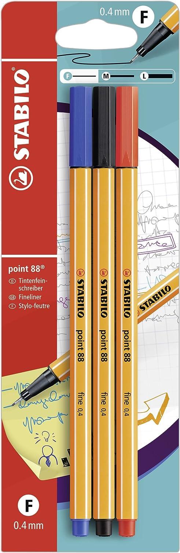 STABILO point 88 - Rotulador puntafina - Pack 3 colores: Amazon.es ...