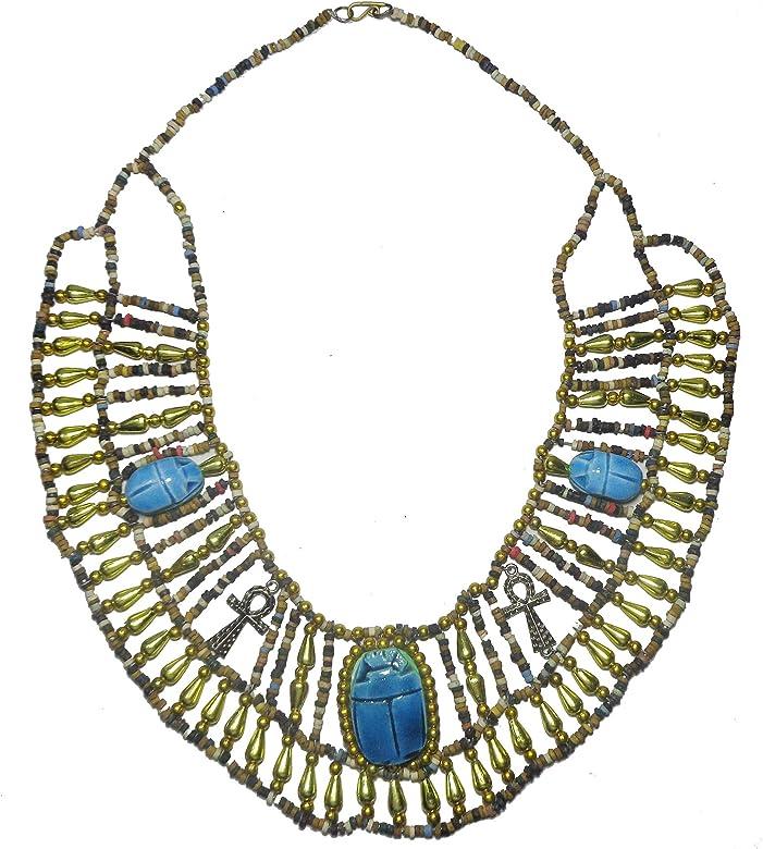 Egipcio Hecho a mano Multi cuentas Scarab Beads Cleopatra ...