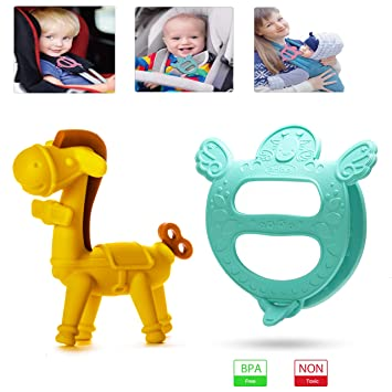 Cute Baby Palm Shape Teething Toy Soothing Food Grade Silicone Teether DD