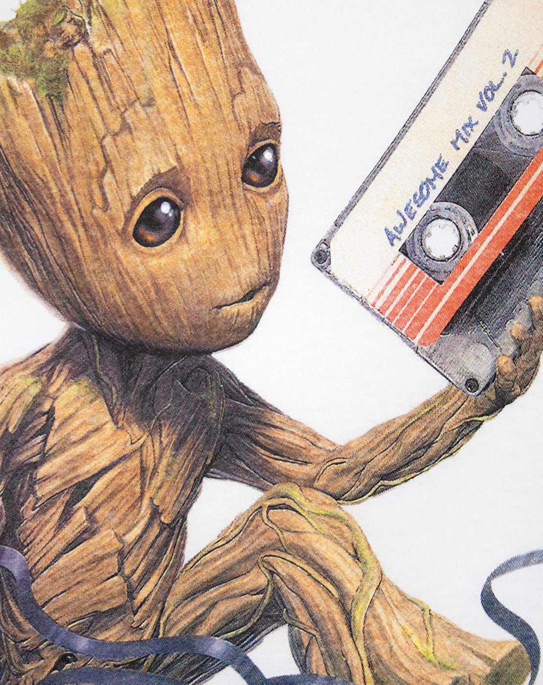 Guardians of the Galaxy Vol 2 Groot Tape Mens T-Shirt