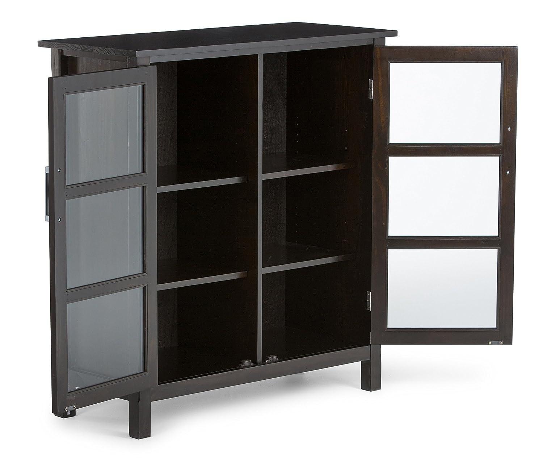 United Furniture Warehouse Kitchener Amazoncom Simpli Home Kitchener Storage Cabinet Medium Walnut
