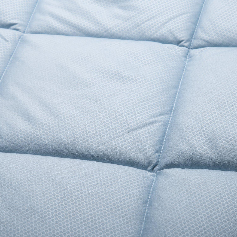 King Comforter Reversible Duvet Insert with Corner Ties-Quilted Down Alternative Comforter Diamond Stitching Design Navy/Light Blue 102\