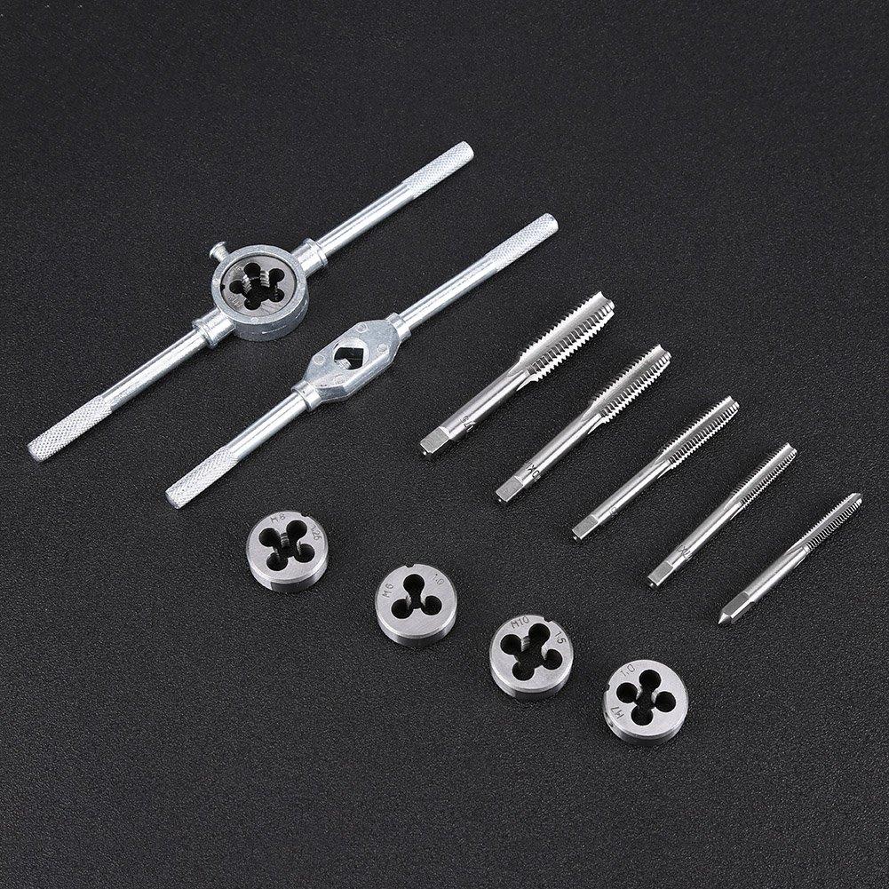 Tornillos de rosca para tuercas roscadas 12 piezas M6-M12 Tornillos de rosca para tuercas roscadas mueren con kit de herramientas manuales