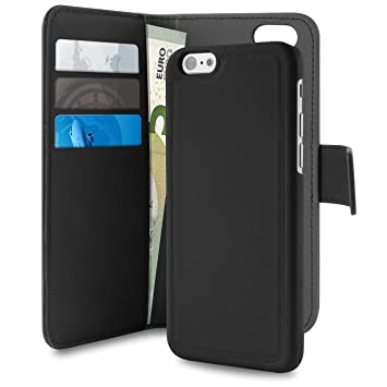timeless design 11c27 d52e2 Puro IPC655BOOKC3BLK Eco Leather Wallet Case with: Amazon.co.uk ...