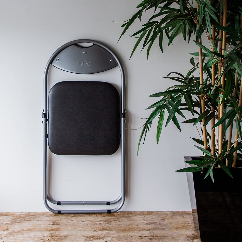 Harbour Housewares Black Padded Desk Chair Folding