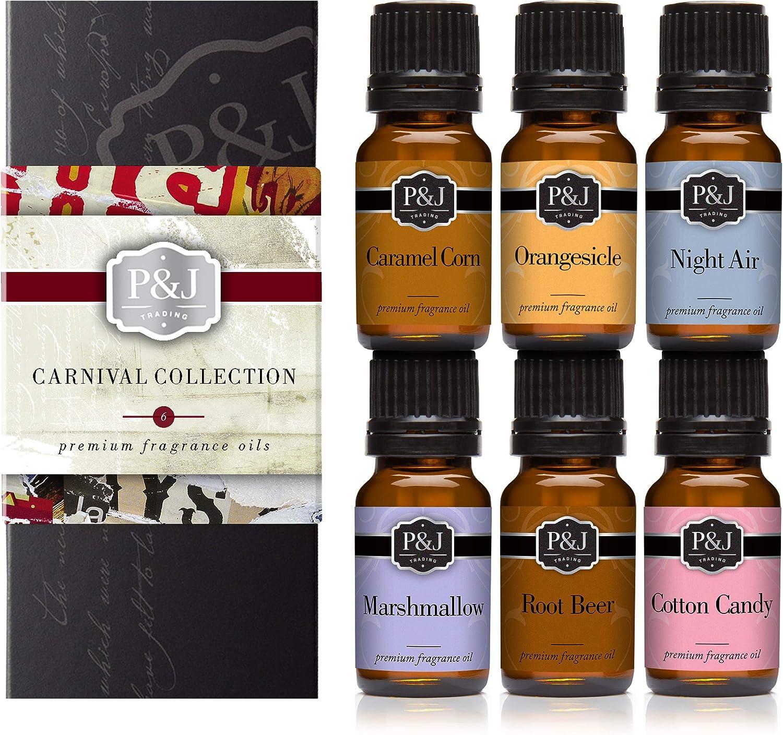 Carnival - Juego de 6 aceites aromáticos de alta calidad – algodón ...