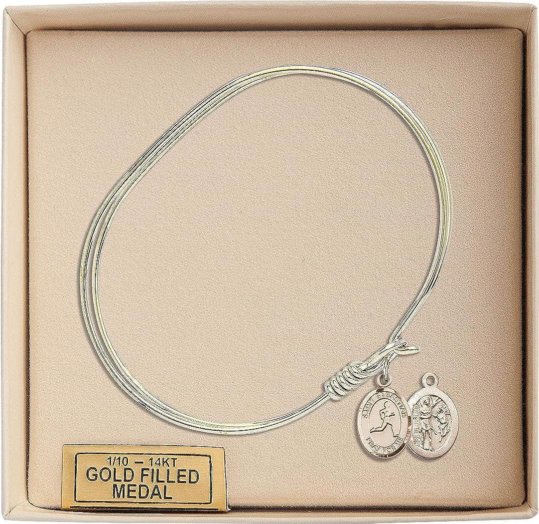 Sebastian Track /& Field Charm On A 7 Inch Oval Eye Hook Bangle Bracelet St