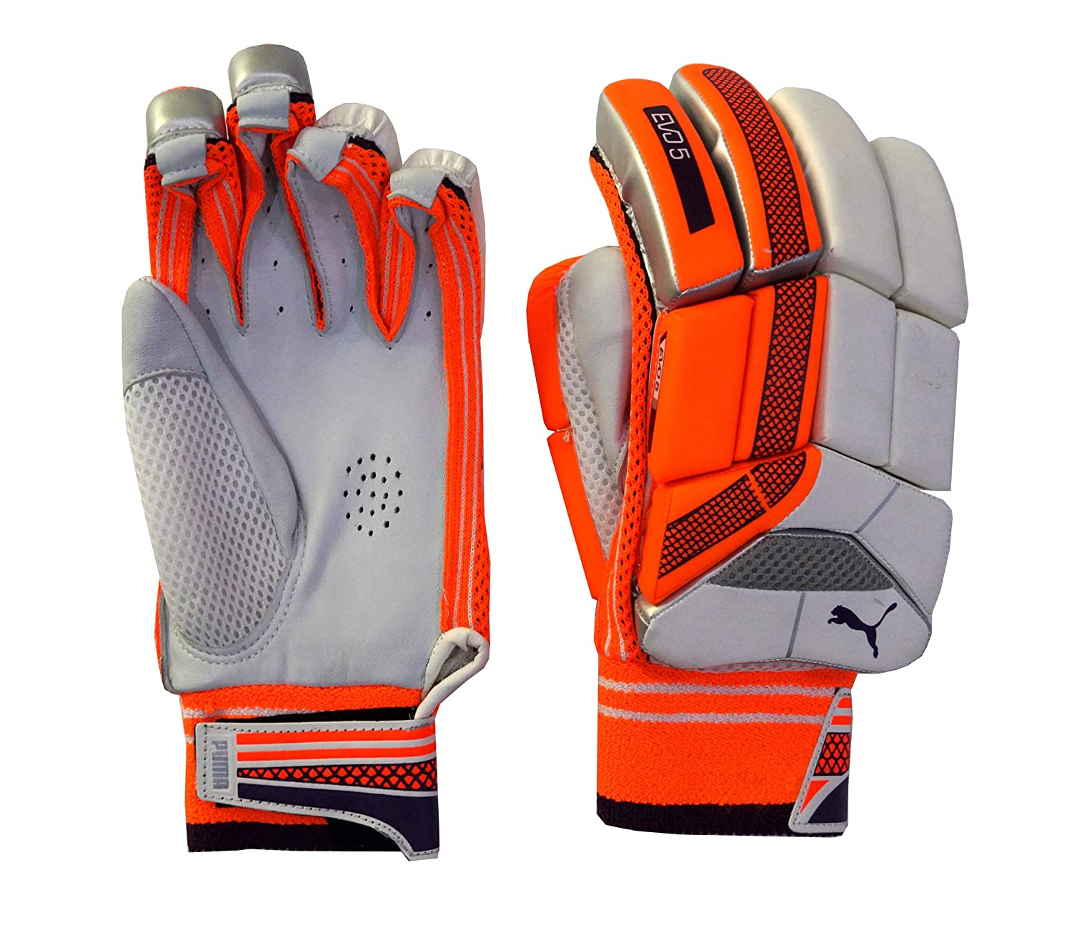 f3729883026 Buy Puma Youth s Evo 5 Orange Cricket Batting Gloves Right Hand Online at  Low Prices in India - Amazon.in