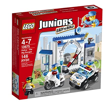 Amazoncom Lego Juniors 10675 Police The Big Escape Toys Games