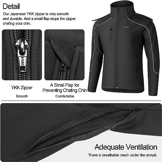 KUTOOK Veste Softshell pour Hommes Veste dext/érieur avec Capuche Amovible Polaire Polaire Imperm/éable YKK Zipper Veste Fonctionnelle Veste pour activit/és Randonn/ées Noir S-3XL HC003
