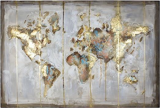 Handbemalt /Ölgem/älde Gro/ße Abstraktes Palettenmesser Kein Rahmen, Nur Leinwand Wanddekoration /Ölgem/älde auf Leinwand goldfarbener Baum mit Bl/üten Wohnzimmer-Kunst Wanddekoration