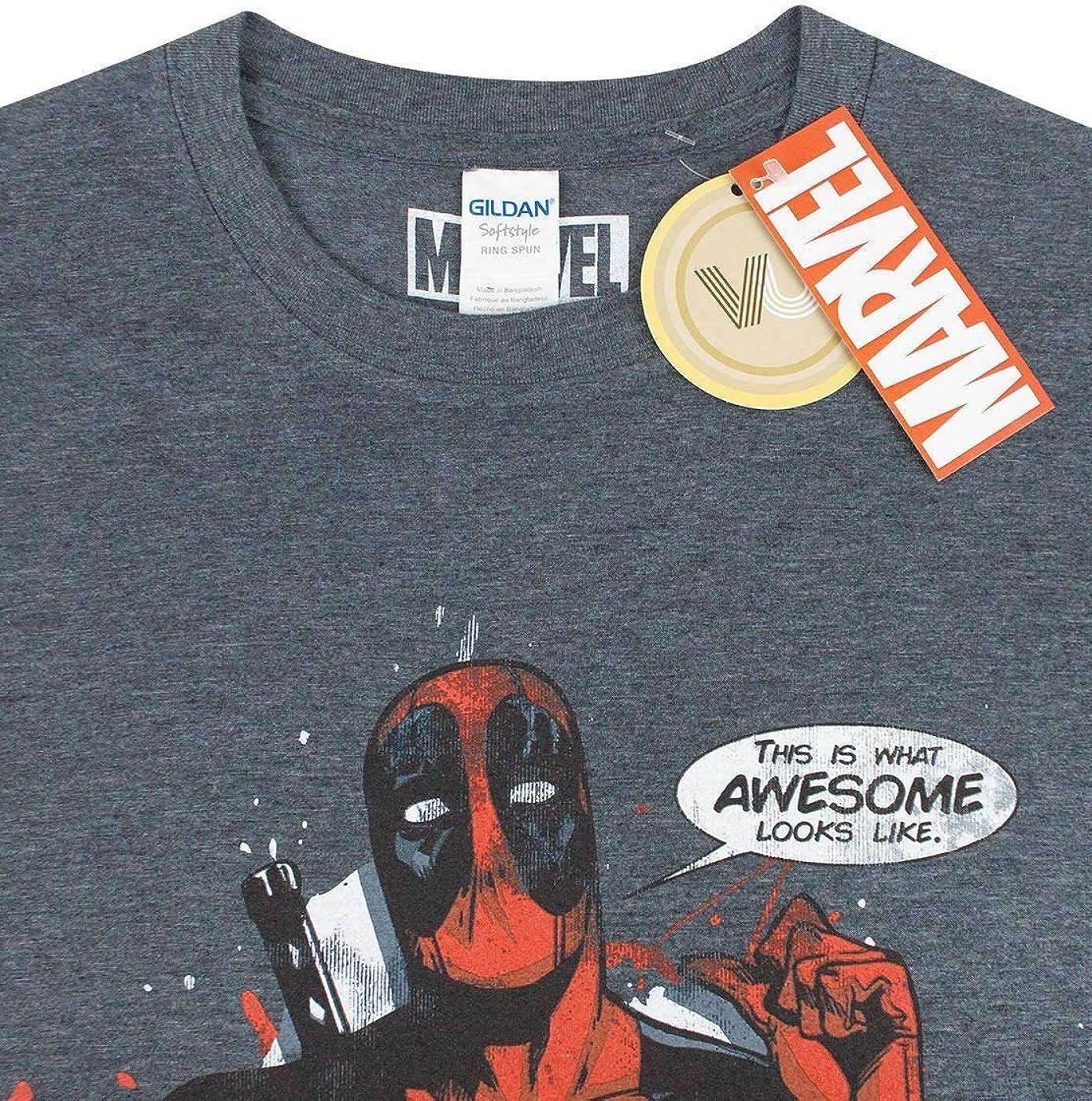 Una herramienta central que juega un papel importante. préstamo estómago  Camisetas y tops Deadpool Marvel Golpéeme Manga Corta de los Hombres de la  Camiseta Ropa saconnects.org