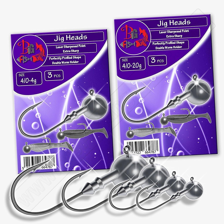 Micro Jig 8 sizes Head Hooks For Soft Lures baits 25 pcs.hooks Pike Zander Perch