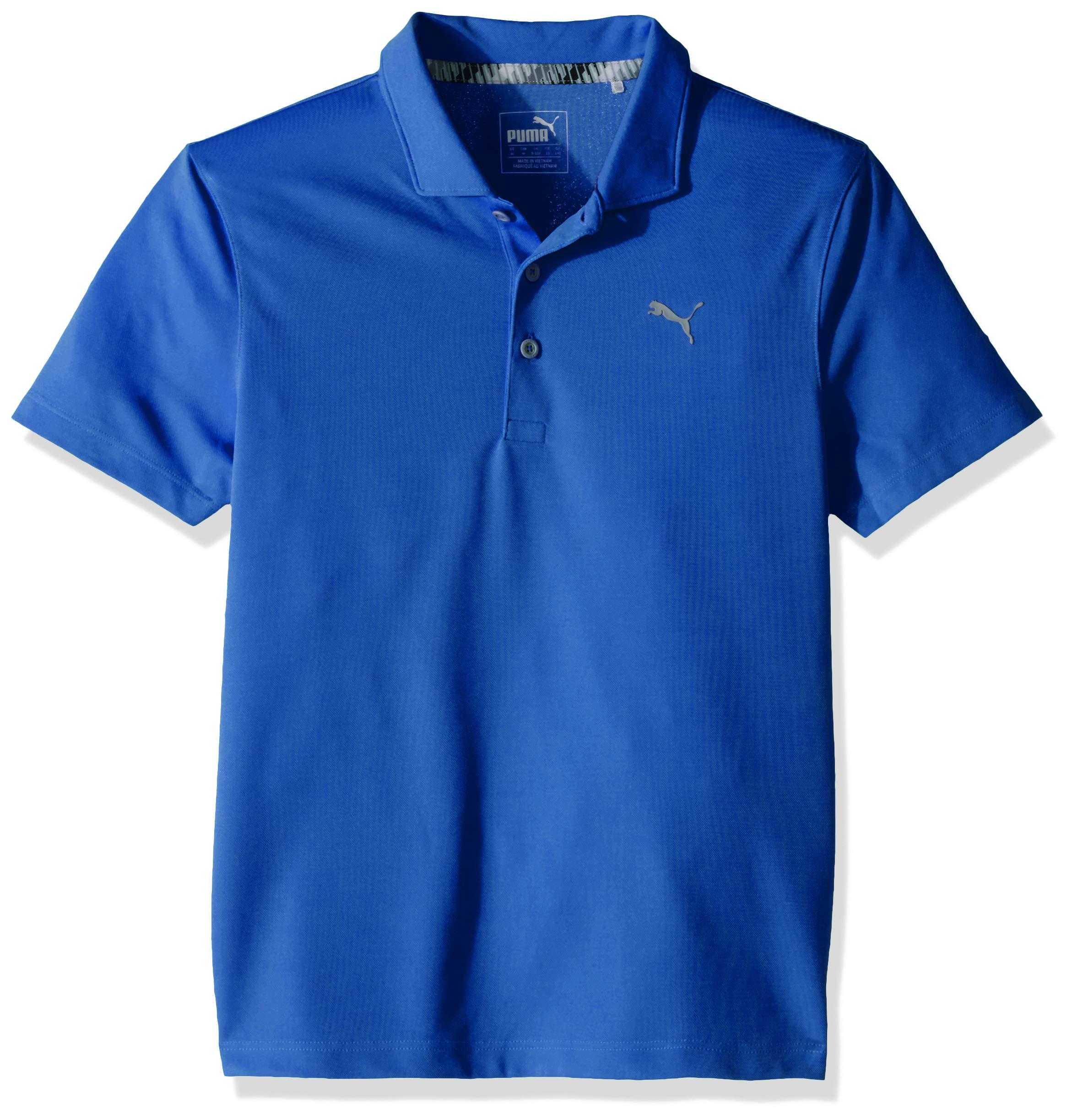 Puma Golf 2019 Boy's Polo, DAZZLING BLUE, Large by PUMA