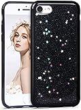 Imikoko iPhone8ケース iPhone7ケース アイフォン7/8 カバー スマホケース case 保護カバー おしゃれ 人気 かわいい ソフト 女子 携帯 (iPhone7/ iPhone8 4.7, 黒)