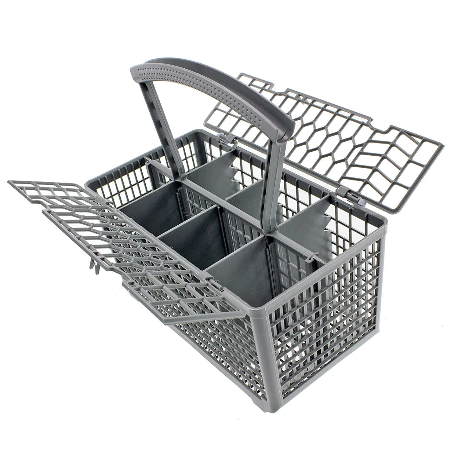 Spares2go Cutlery Basket Cage & Lid for Kenwood Dishwasher (Removable Handle, 235 x 240 x 145