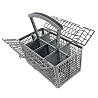 Spares2go Universal Dishwasher Cutlery Basket Cage Lid & Removable Handle (235 x 242 x 130)