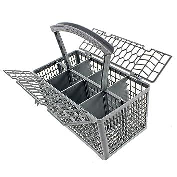 Spares2go Cubiertos Cesto Jaula & Tapa para Haier lavavajillas (mango extraíble, 235 x 240