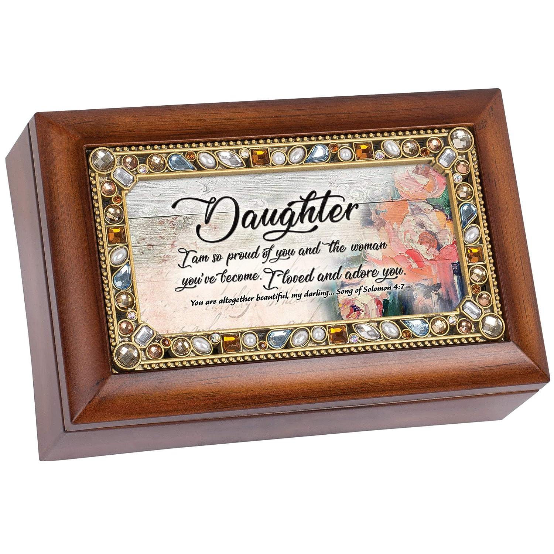 高品質の激安 Cottage Garden Daughter So So Proud オルゴール of You ジュエル付き Love 木目調 ジュエル付き 小型 オルゴール アメイジンググレース B07P88JHK4, VIA TORINO インポートブランド:b215be06 --- arcego.dominiotemporario.com