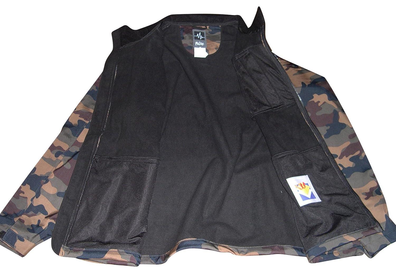 Pulse Mens Big Sizes Soft Shell Jacket Camoflage